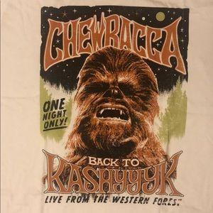 Star Wars Chewbacca Rock Concert T Shirt